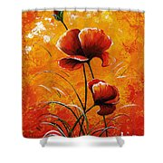 Red Poppies 023 Shower Curtain