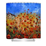 Red Poppies 562111 Shower Curtain