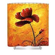 Red Poppy 012 Shower Curtain