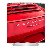 Red Porsche 911 Detail E183 Shower Curtain