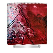 Red Psychological State Shower Curtain