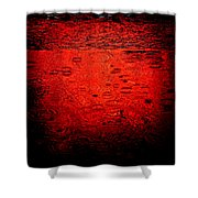 Red Rain Shower Curtain by Dave Bowman