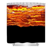 Red Rays Shower Curtain