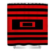 Red Rectangle Shower Curtain
