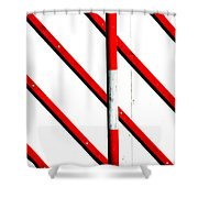 Red Red Line Shower Curtain