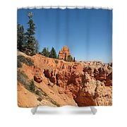 Red Red Rocks Shower Curtain