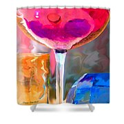Red Red Wine Shower Curtain