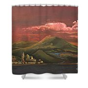 Red Rhine Shower Curtain