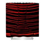 Red Rhythm Shower Curtain