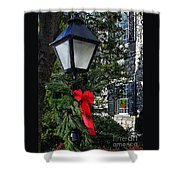 Red Ribbon Christmas Shower Curtain