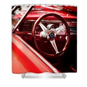 Red Ride Shower Curtain