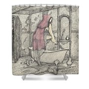 Red Riding Hood-one Month Later Shower Curtain