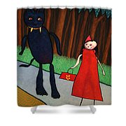 Red Ridinghood Shower Curtain by James W Johnson