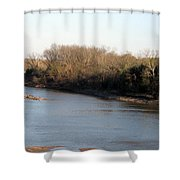 Red River Looking East Shower Curtain