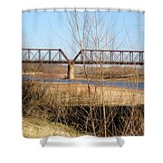 Red River Train Trussell Shower Curtain