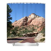 Red Road Zion Park Shower Curtain