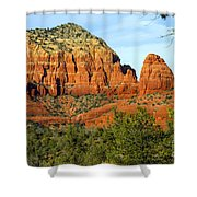 Red Rock Butte Shower Curtain