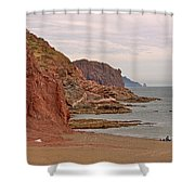Red Rock By Sea Of Cortez From San Carlos-sonora Shower Curtain