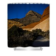 Red Rock Canyon At Dusk Shower Curtain