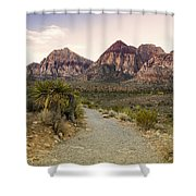 Red Rock Canyon Trailhead Shower Curtain