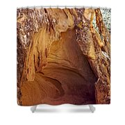 Red Rock Cave Shower Curtain