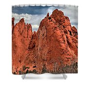Red Rock Cluster Shower Curtain