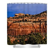 Red Rock Crag Shower Curtain