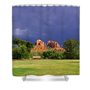 Red Rock Crossing Park Shower Curtain