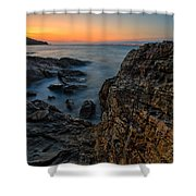 Red Rock Shower Curtain by Davorin Mance