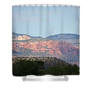 Red Rock Evening Shower Curtain