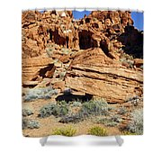 Red Rock Land Shower Curtain