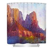 Red Rock Ridge Shower Curtain