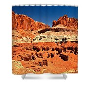 Red Rock Ridges Shower Curtain