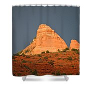 Red Rock Rising Shower Curtain
