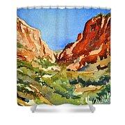 Red Rock Summer Shower Curtain