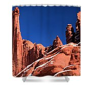 Red Rock Towers Shower Curtain