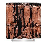 Red Rock Wall Shower Curtain