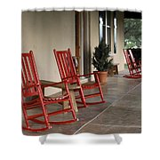 Red Rockers 21159 Shower Curtain