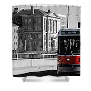 Red Rocket 14c Shower Curtain