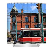 Red Rocket 15 Shower Curtain