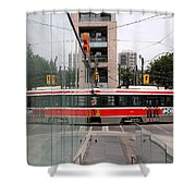 Red Rocket 37 Shower Curtain