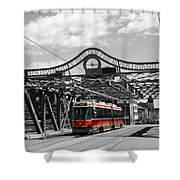 Red Rocket 5b Shower Curtain