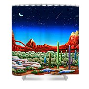 Red Rocks 5 Shower Curtain