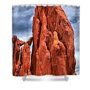 Red Rocks Against Blue Skies Shower Curtain
