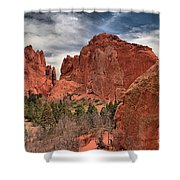 Red Rocks At Garden Of The Gods Shower Curtain