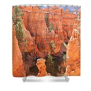 Red Rocks - Bryce Canyon Shower Curtain