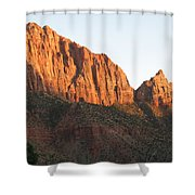 Red Rocks Of Zion Park Shower Curtain