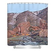 Red Rocks Panorama 1 Shower Curtain