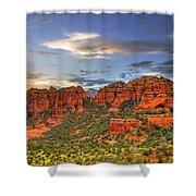 Red Rocks Sunset Shower Curtain