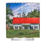 Red Roof Charm Shower Curtain
